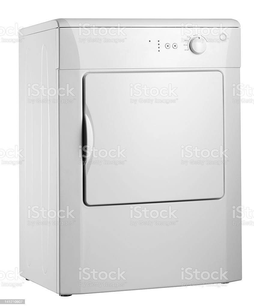 Clothes dryer (isolated with clipping path over white background) royalty-free stock photo