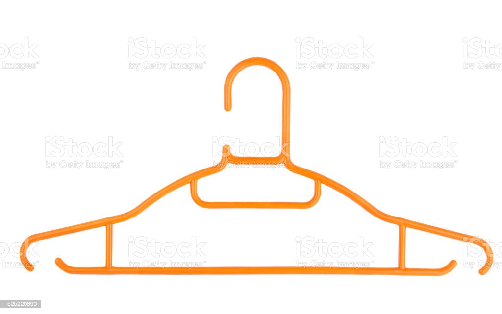 clothes hanger isolated stock photo