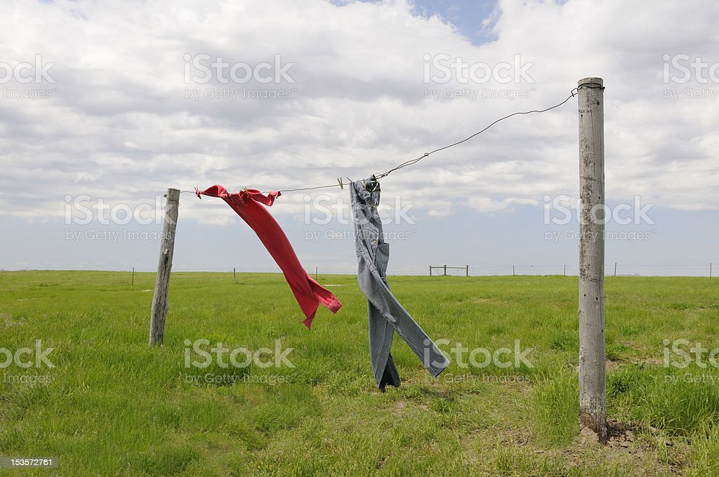 Clothes Hanging to Dry royalty-free stock photo