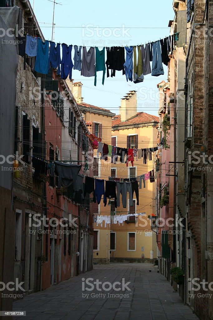 Clothes Hung Out to Dry stock photo