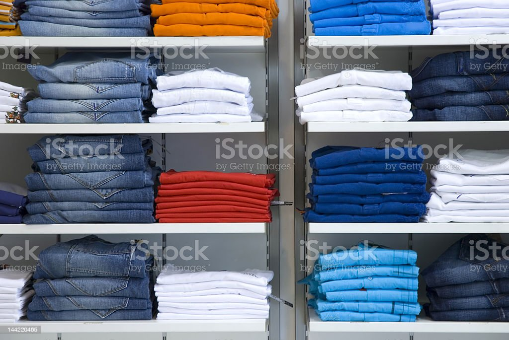 Clothes in the shop royalty-free stock photo