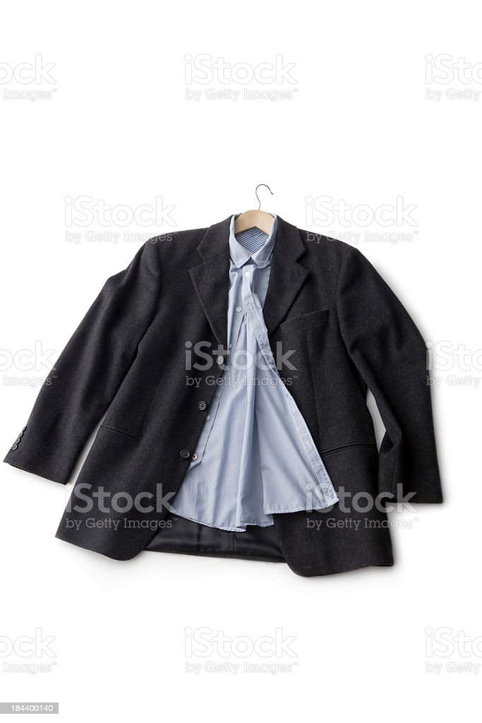 Clothes: Jacket and Blue Blouse royalty-free stock photo