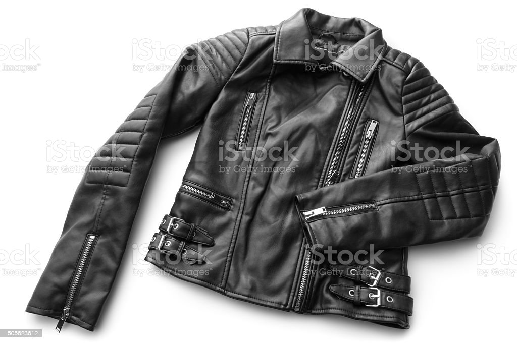 Clothes: Leather Jacket stock photo