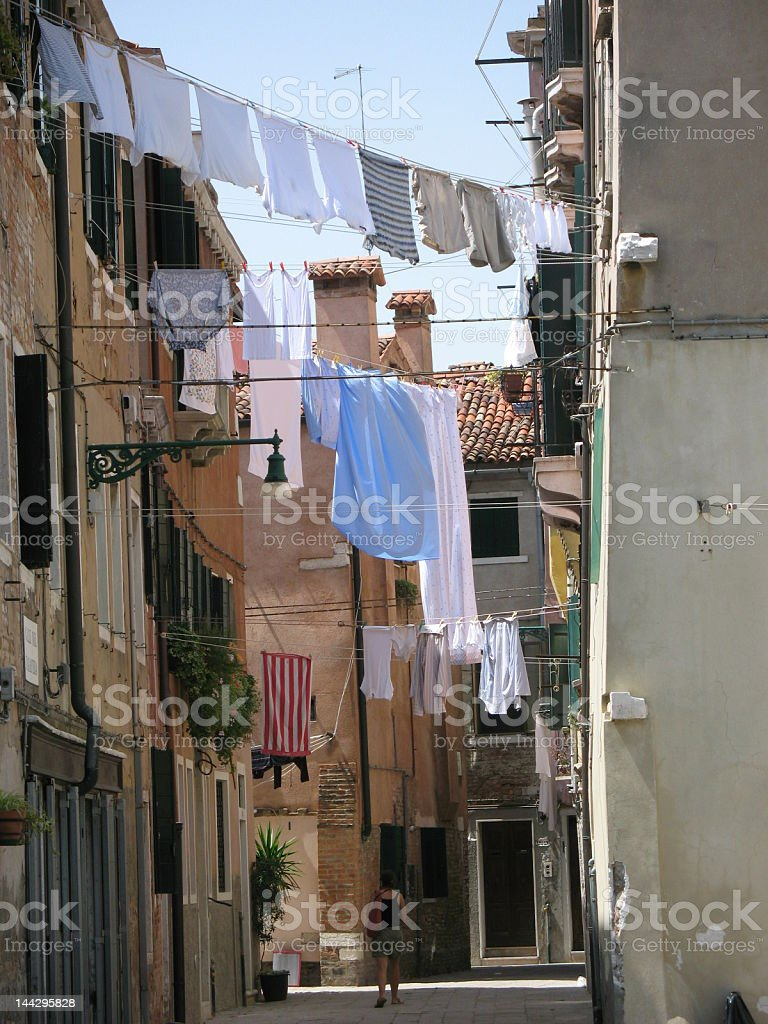Clothes lines royalty-free stock photo