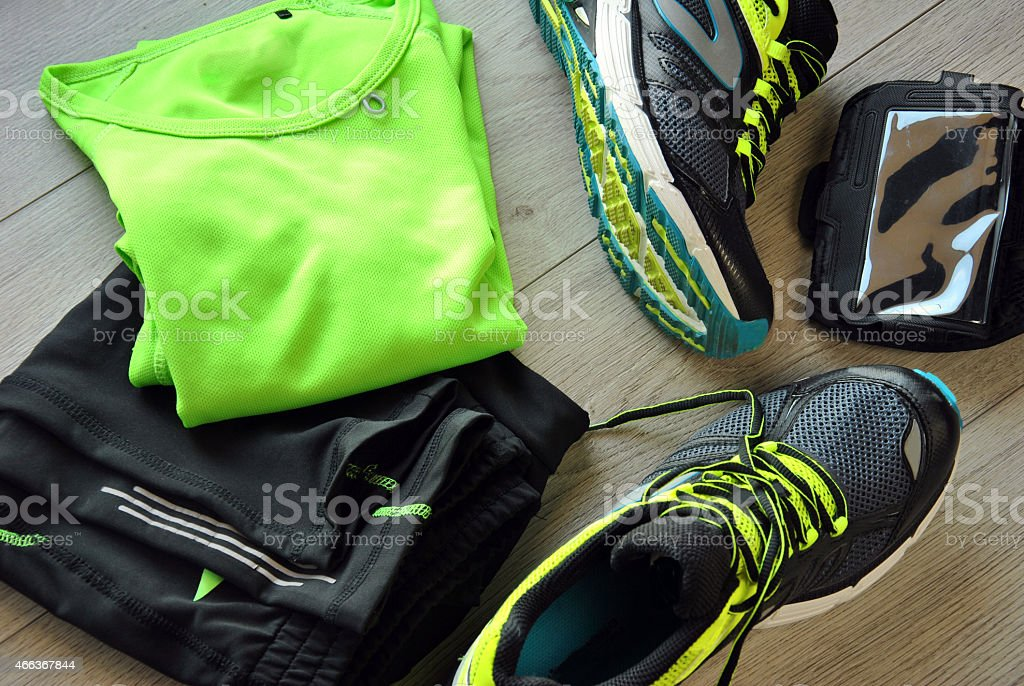 Clothes make running stock photo