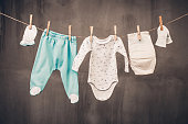Clothes of a little baby