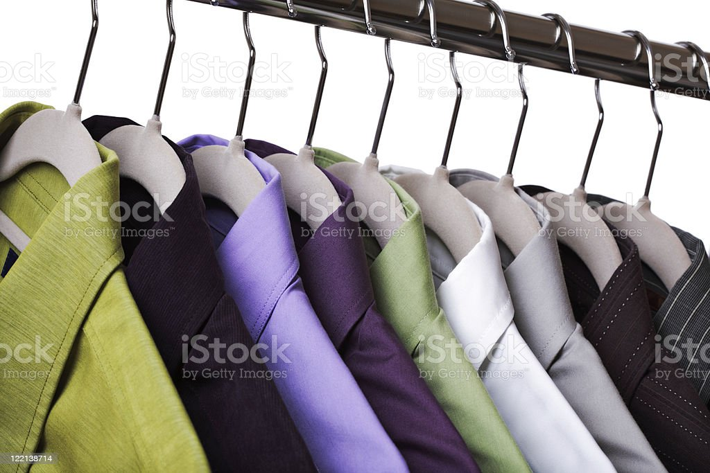 Clothes on a hanger stock photo
