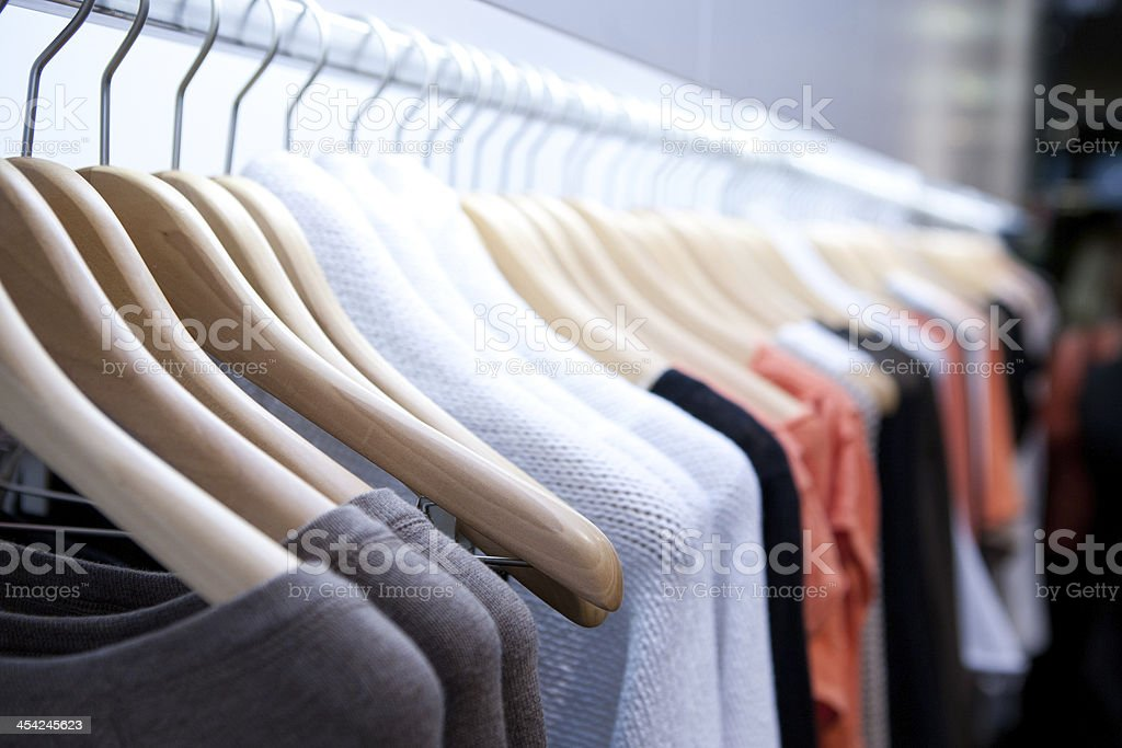 Clothes On a Rack stock photo