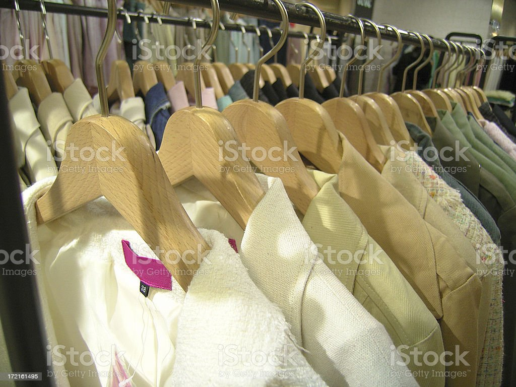 Clothes on Display in Fashion Shop royalty-free stock photo