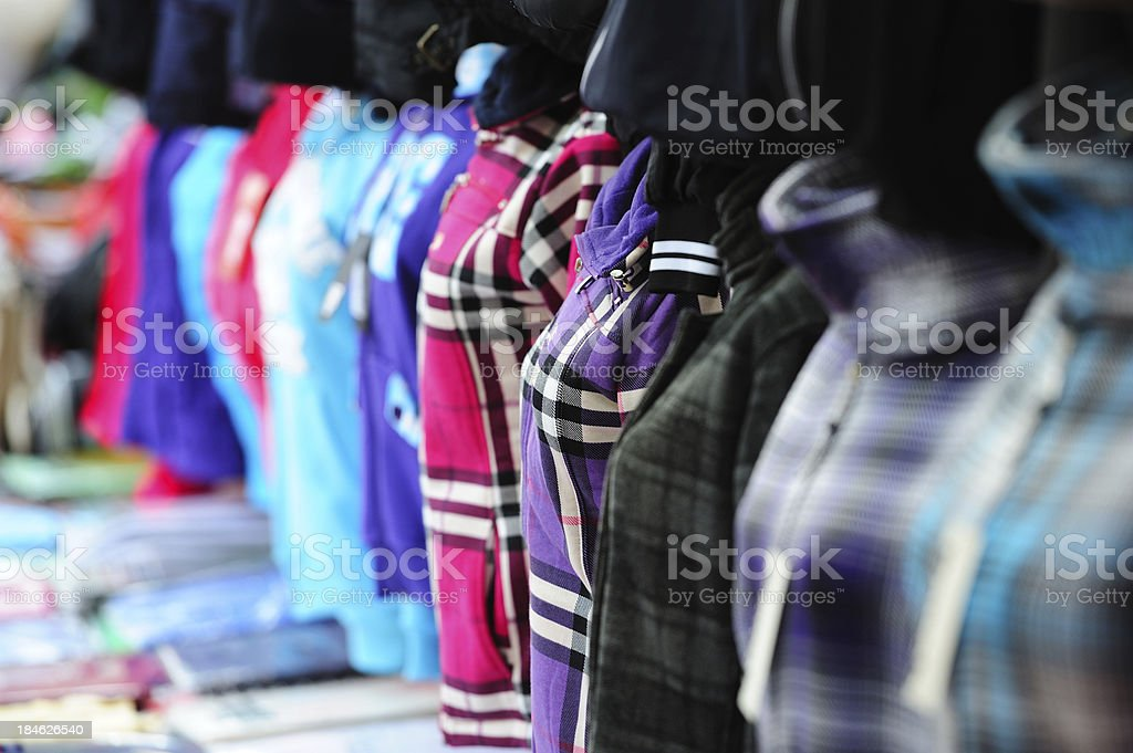 Clothes on dummy mannequins royalty-free stock photo