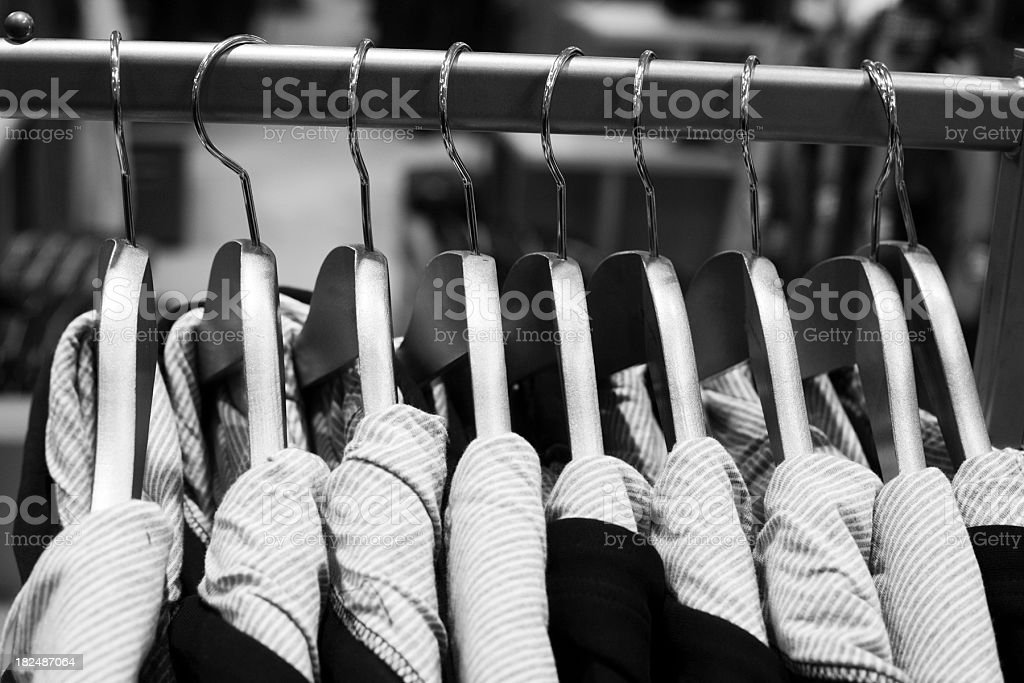 clothes on hanger royalty-free stock photo