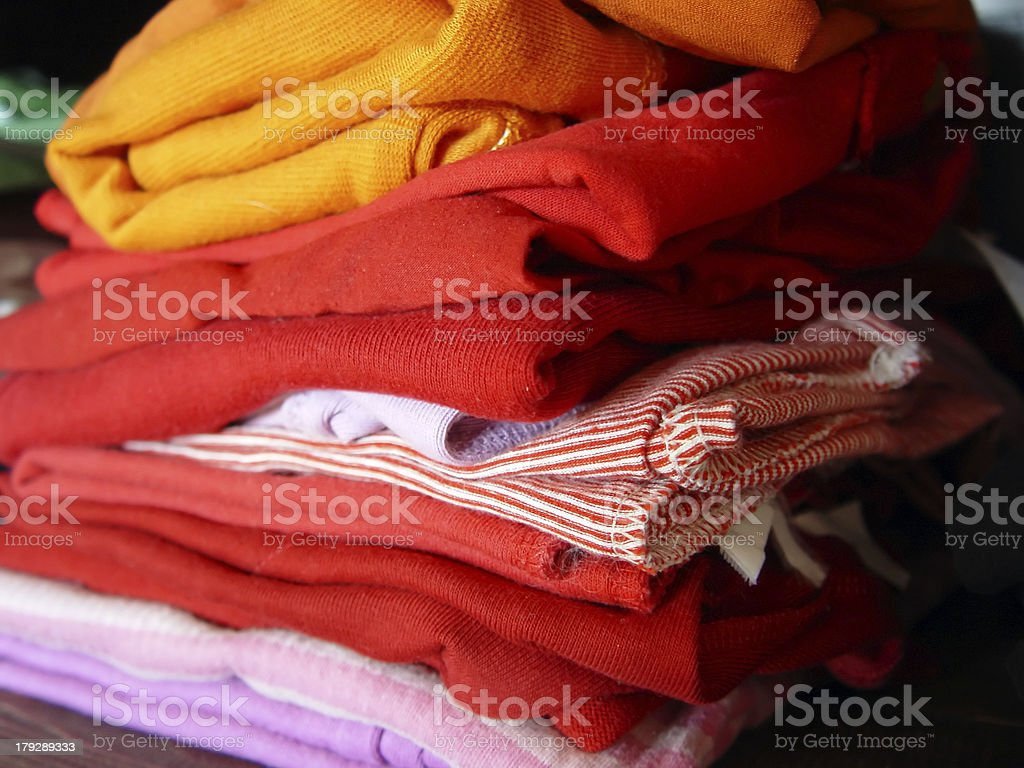 Clothes on the Shelf royalty-free stock photo