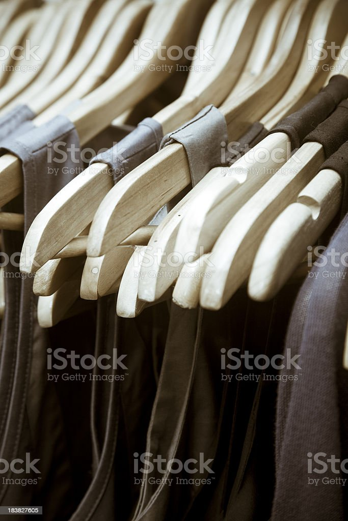 Clothes rack royalty-free stock photo