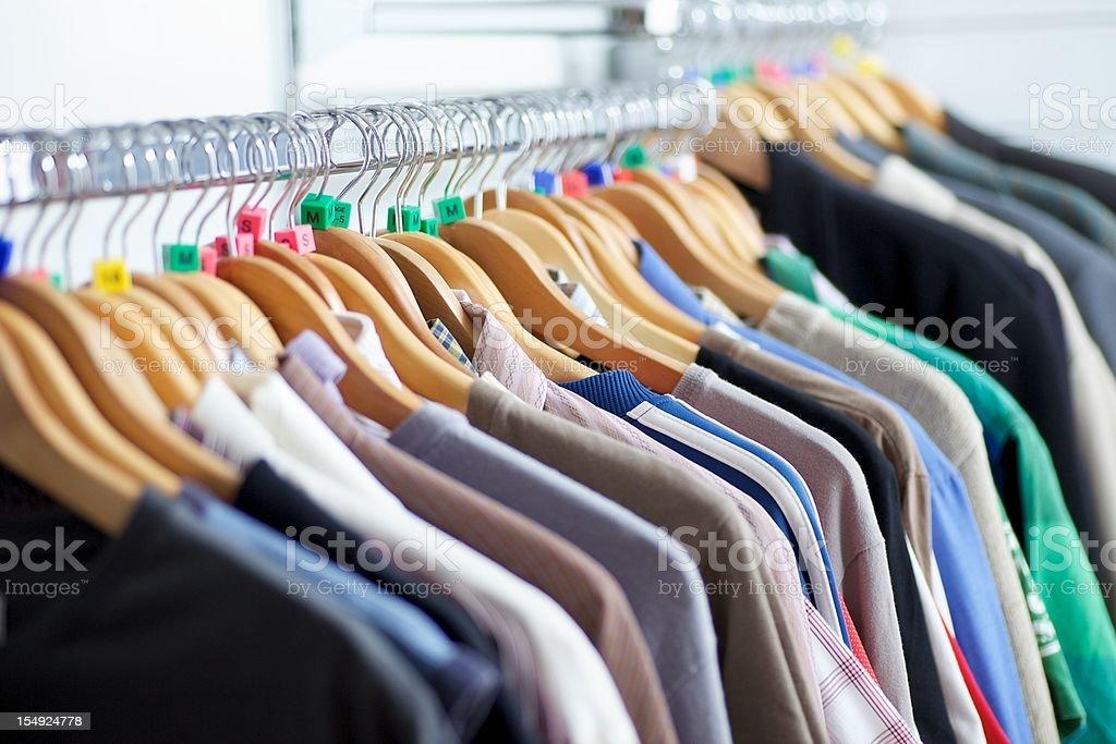 Clothes Rail... royalty-free stock photo