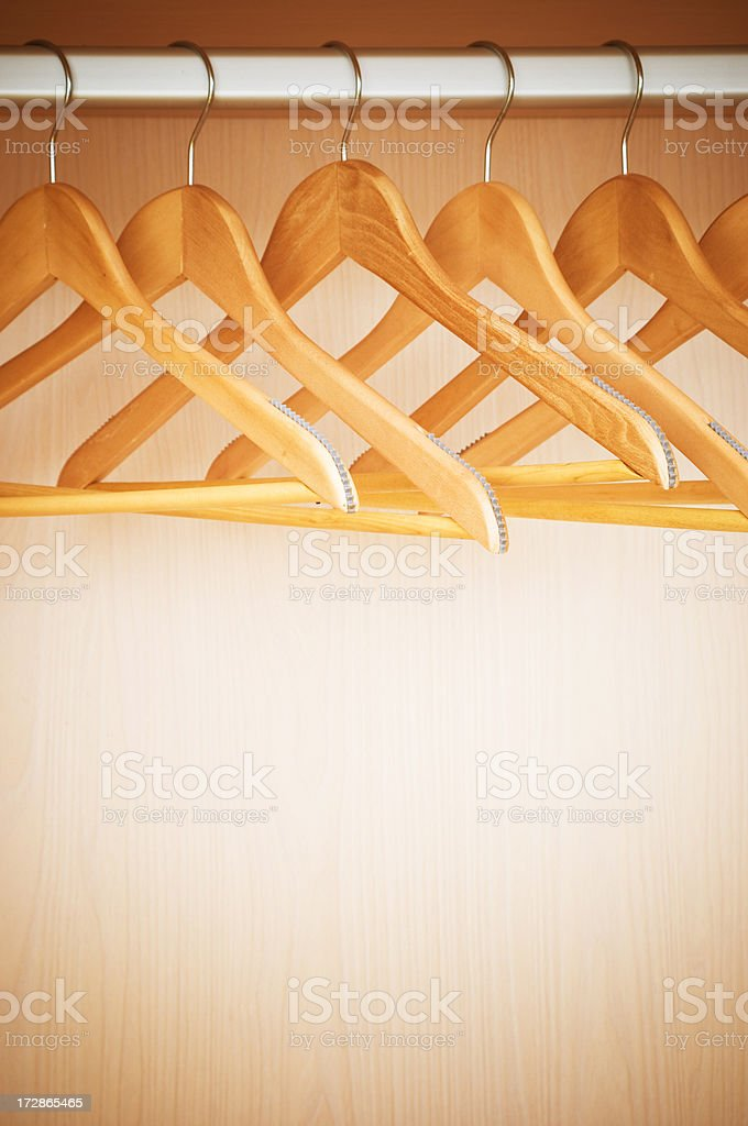 Clothes rail royalty-free stock photo