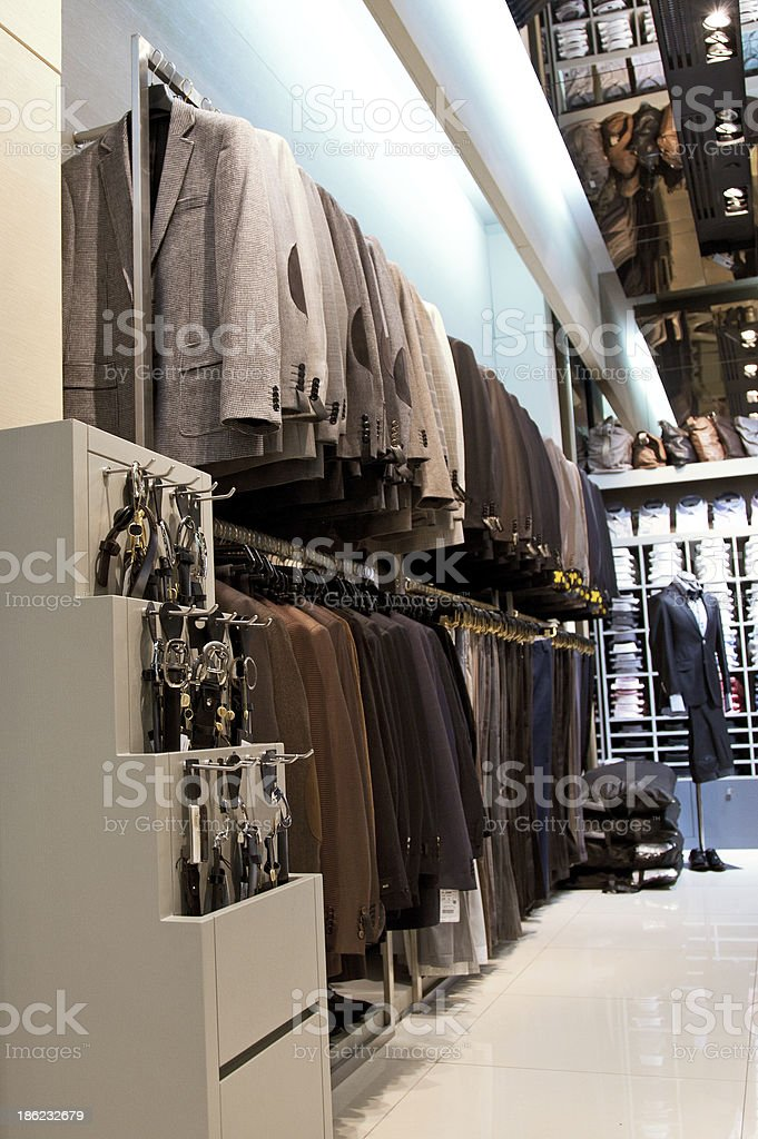 Clothes Shop Interior royalty-free stock photo