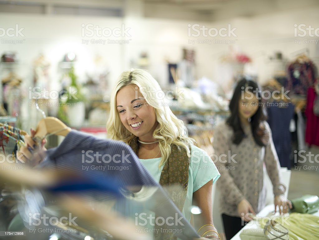 clothes shopping royalty-free stock photo