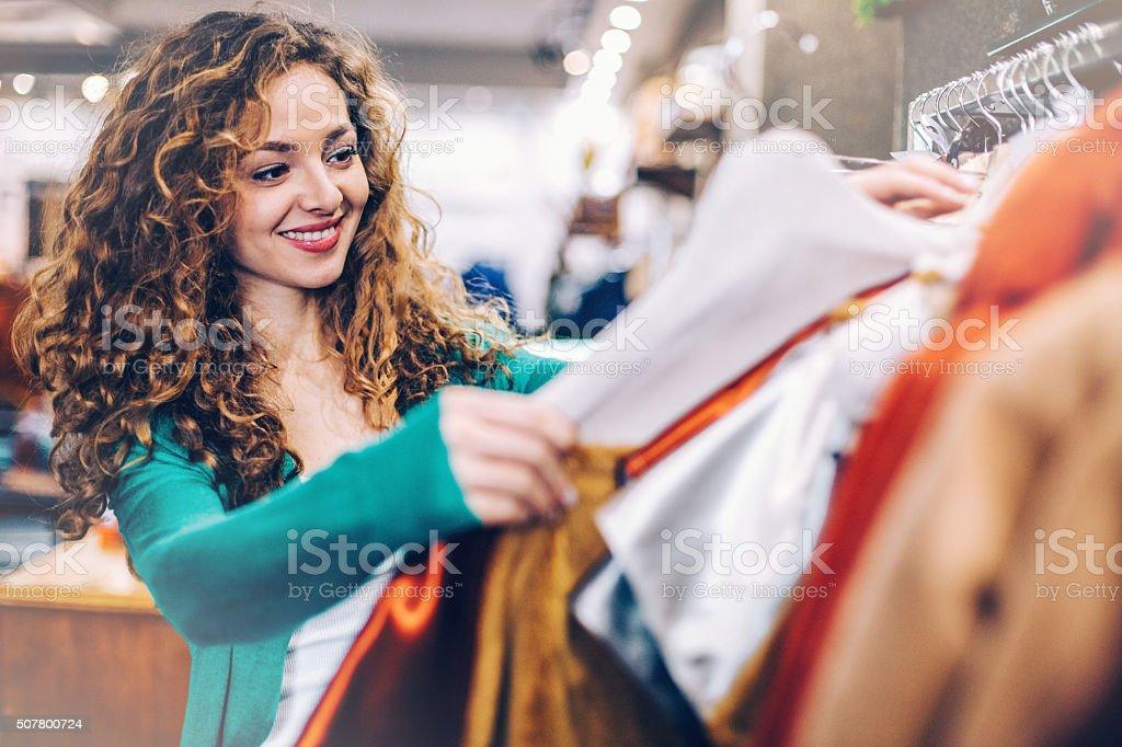 Clothes shopping stock photo