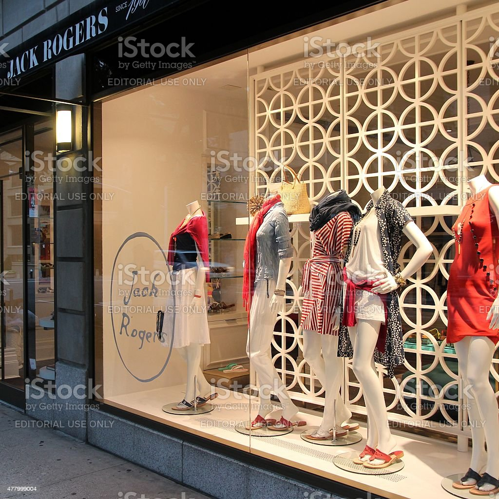 Clothes store, New York stock photo