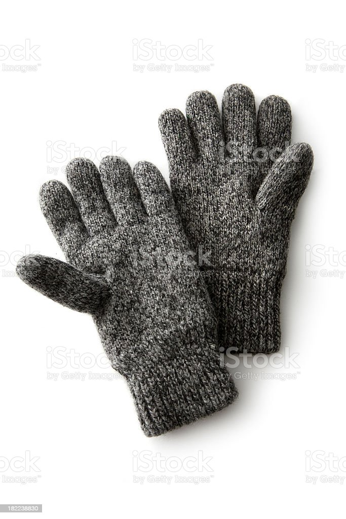 Clothes: Winter Gloves royalty-free stock photo