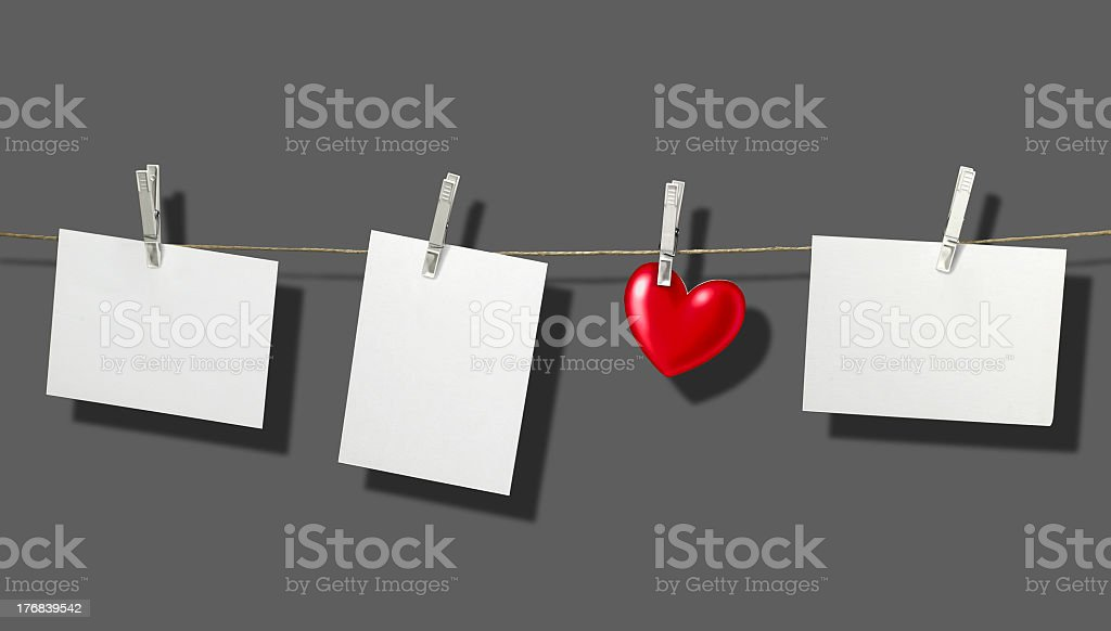 clothesline and labels royalty-free stock photo
