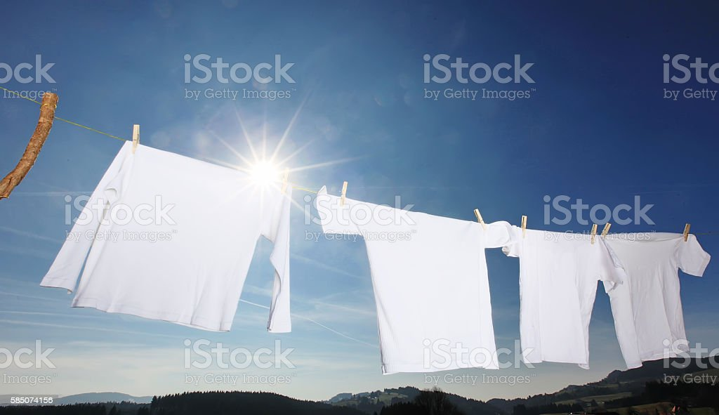 clothes-line laundry stock photo