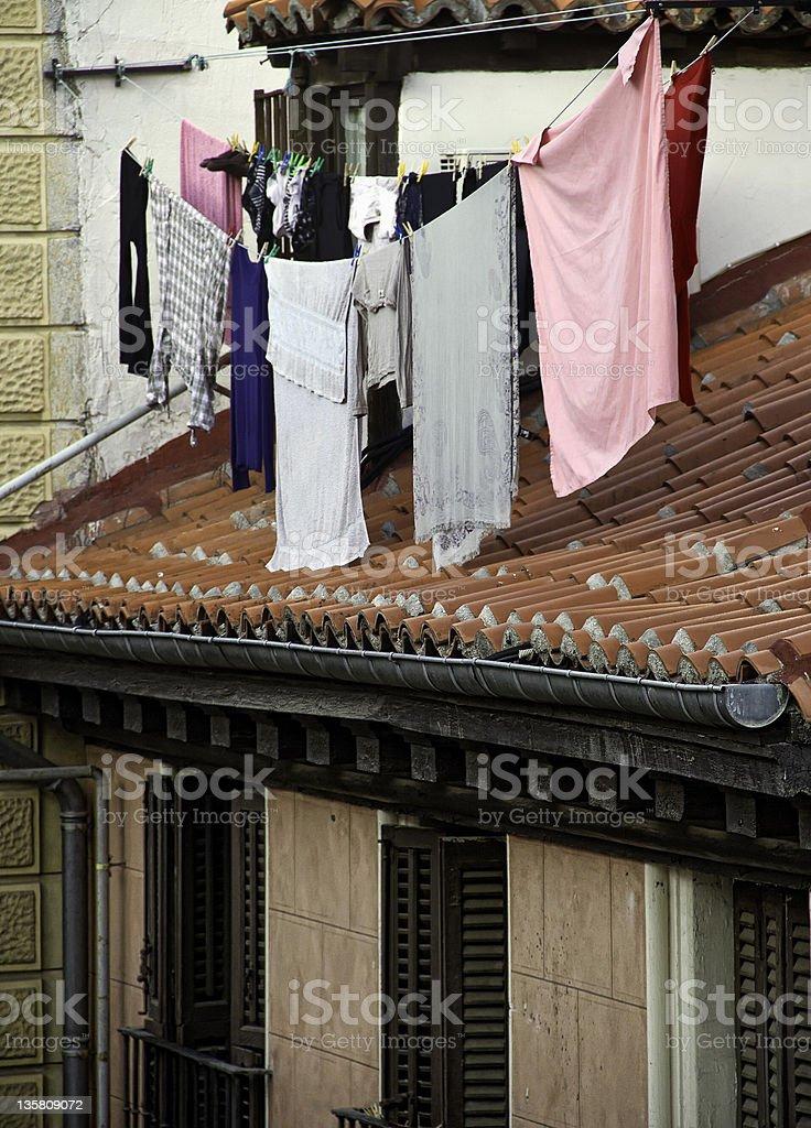 Clothesline royalty-free stock photo