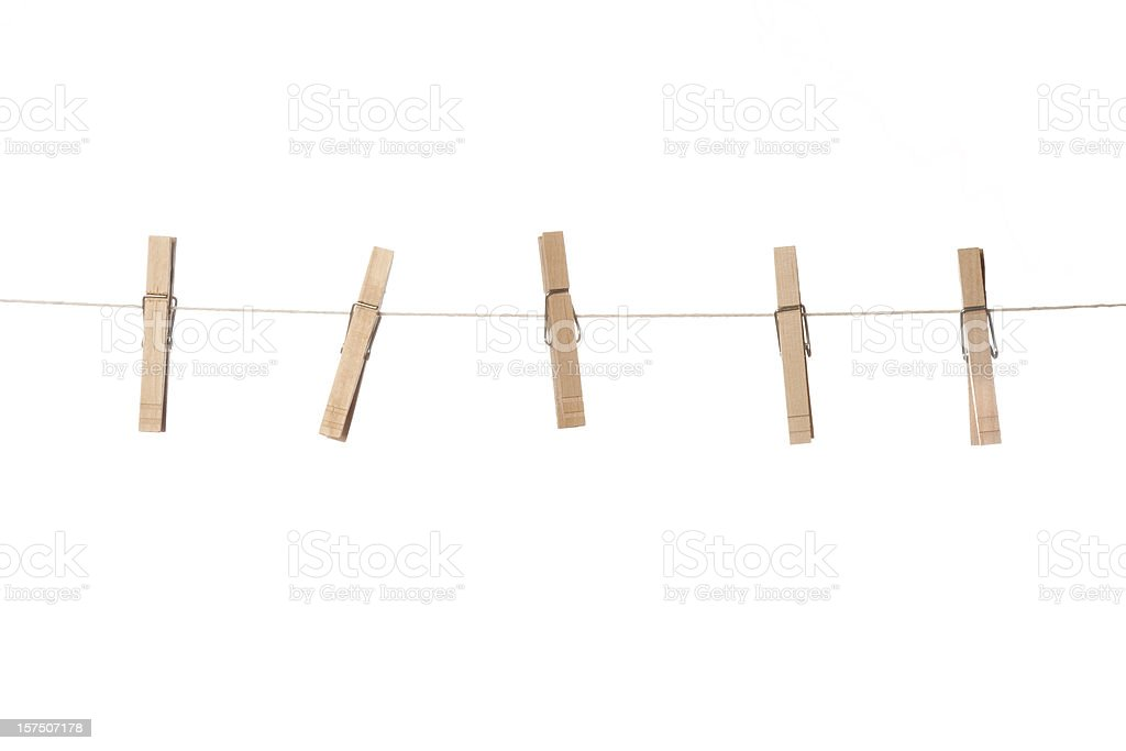clothesline stock photo