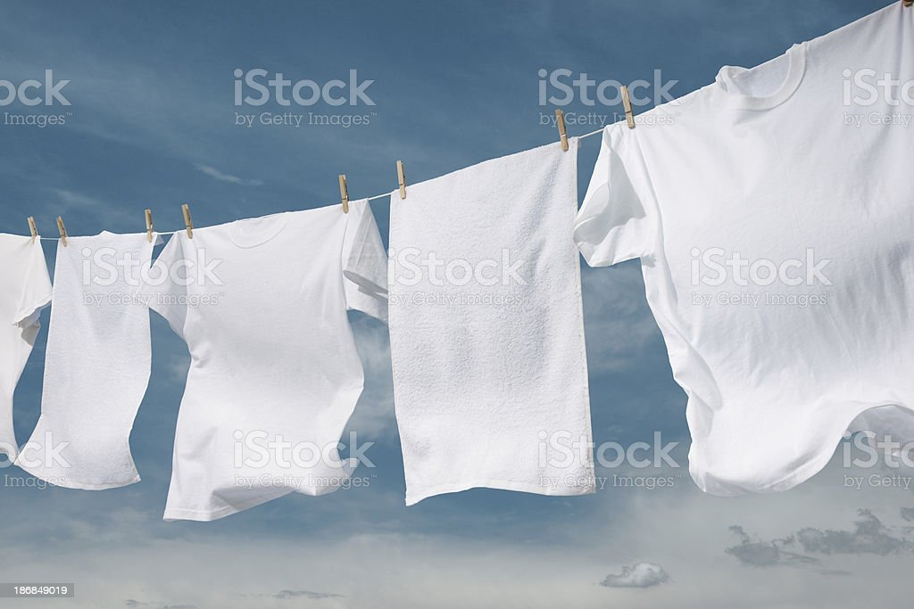 Clothesline royalty-free stock photo