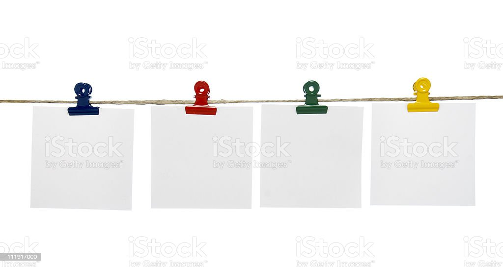 clothespin and note paper stock photo
