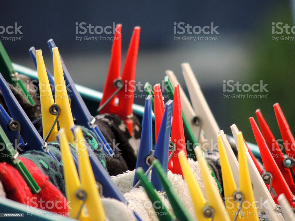 Clothespin stock photo