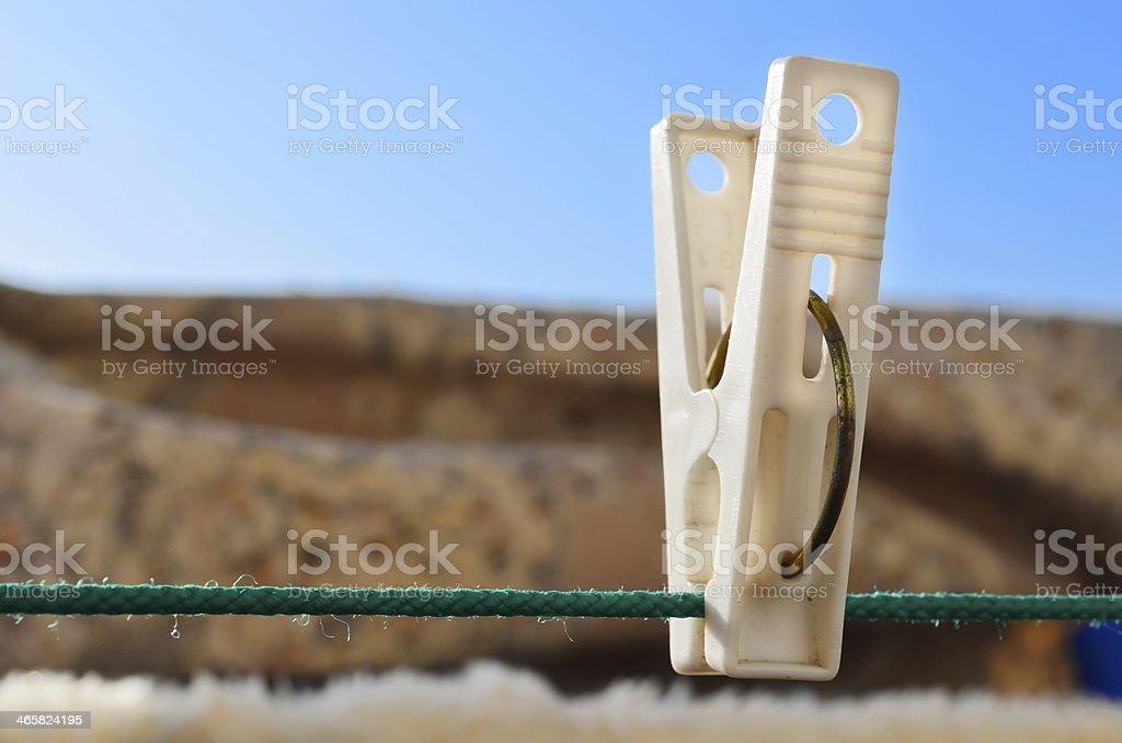 clothespins stock photo