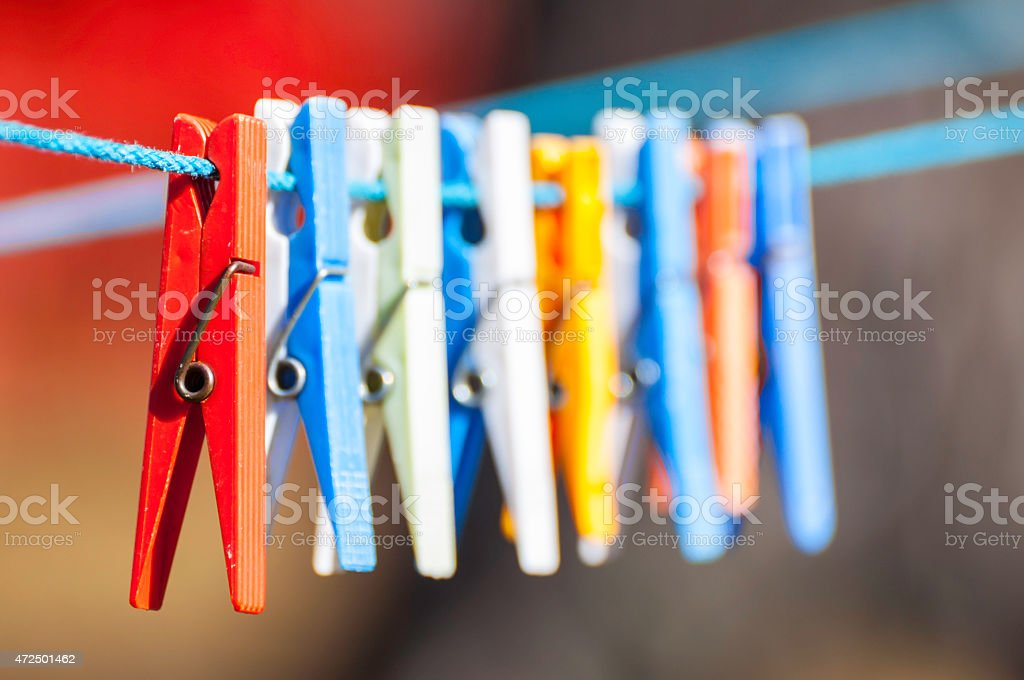 Clothespins stock photo
