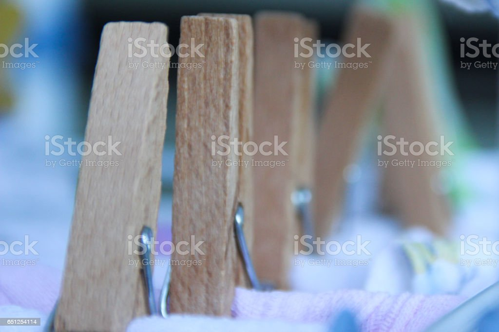 Clothespins: suspended stock photo