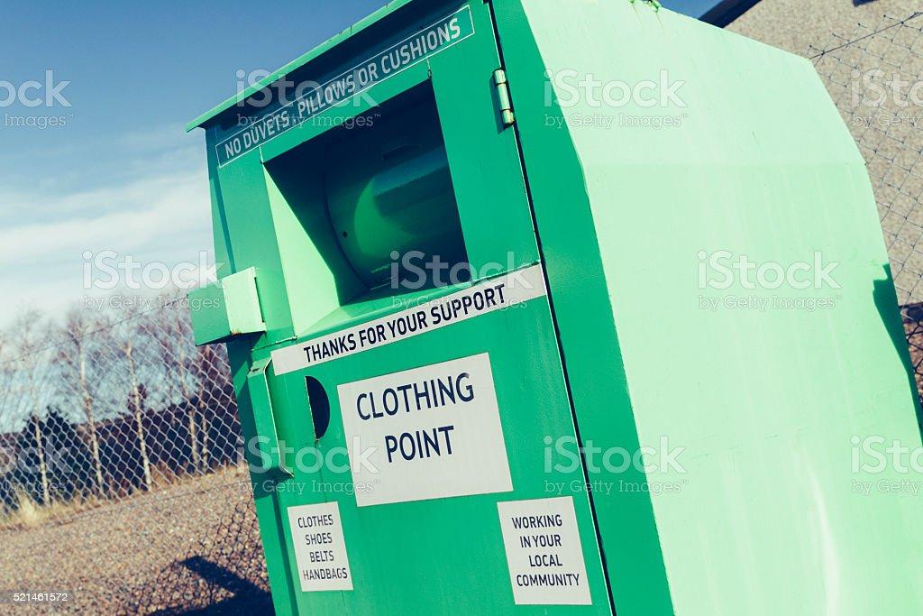 Clothing bank stock photo