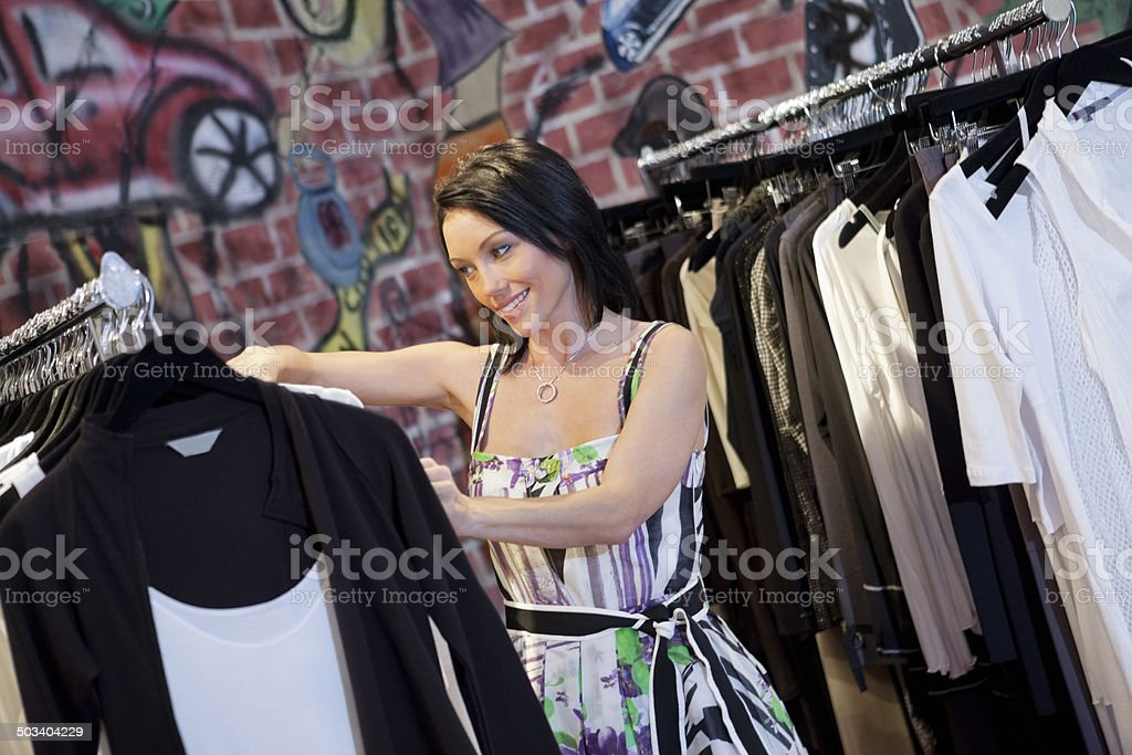 Clothing boutique stock photo