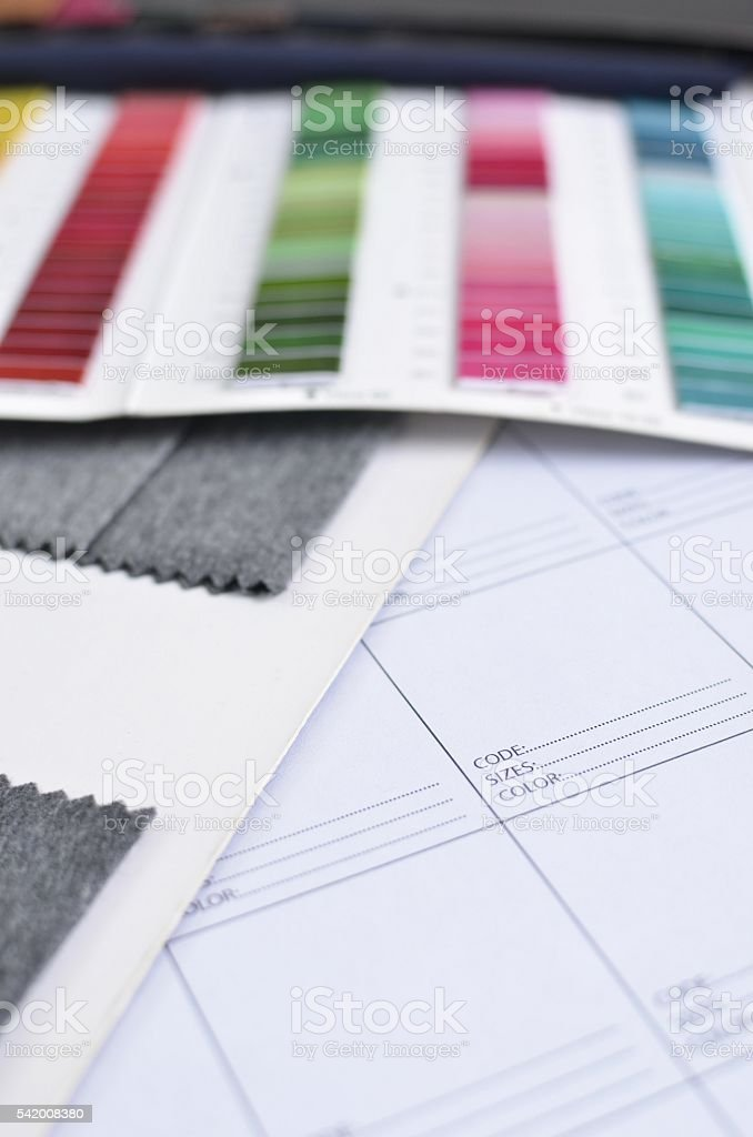 Clothing design sourcing stock photo