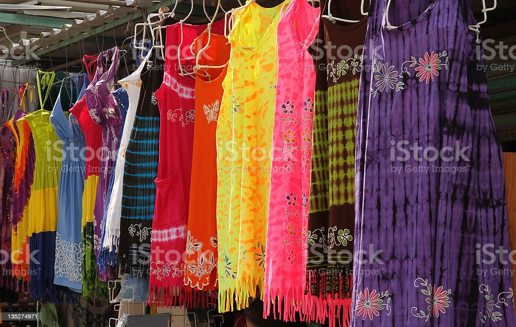 Clothing in Market stock photo