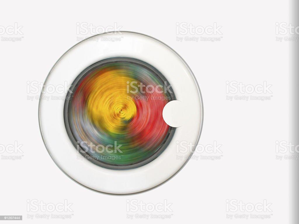 Clothing in washing machine stock photo