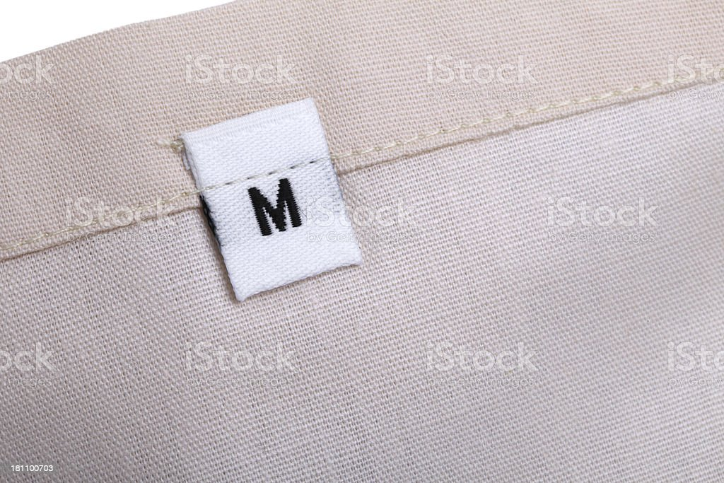M Clothing Label royalty-free stock photo