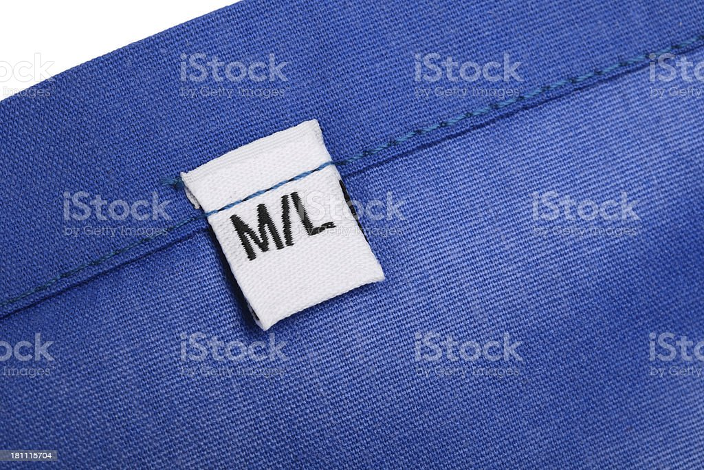 M/L Clothing Label royalty-free stock photo