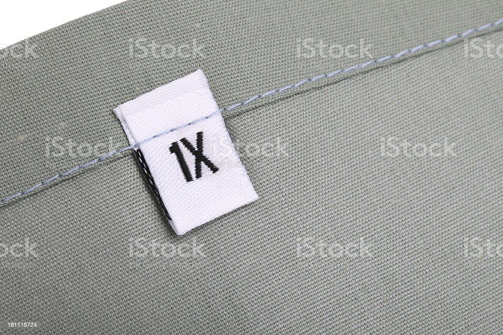 1X Clothing Label stock photo