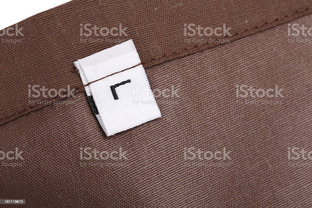 L Clothing Label royalty-free stock photo