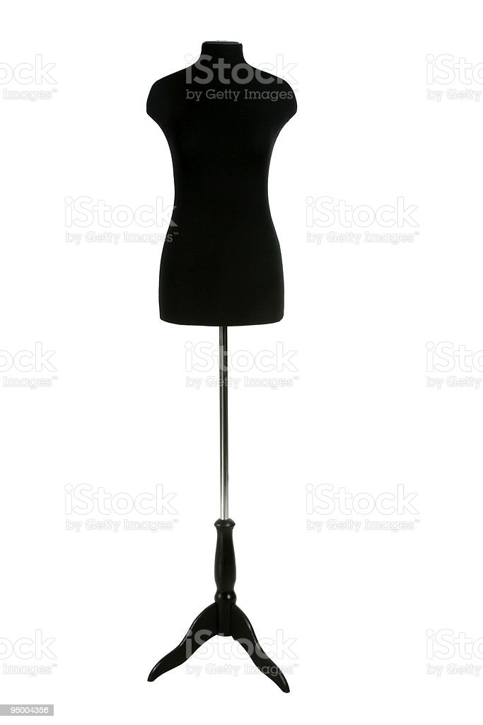 Clothing mannequin on a white background royalty-free stock photo