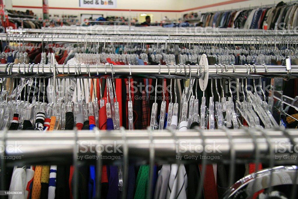 clothing racks stock photo