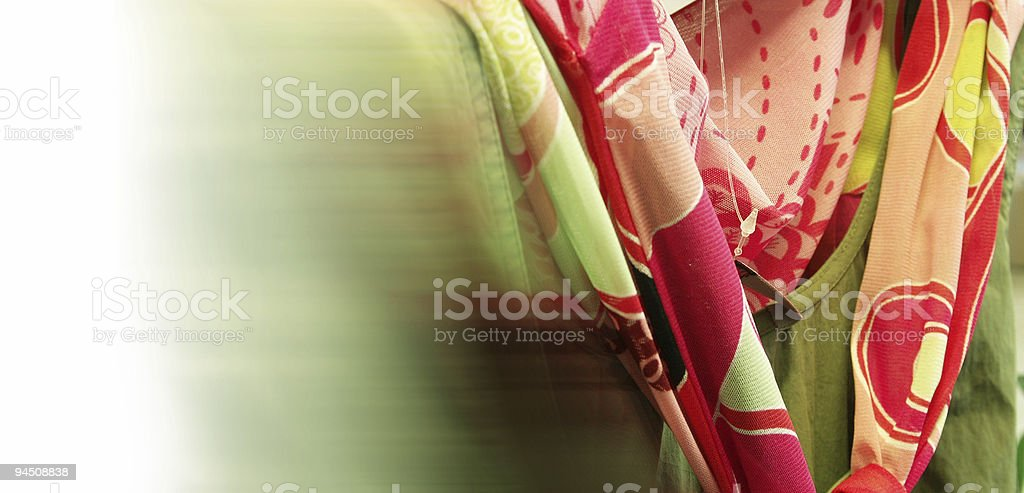 Clothing sales point scarf royalty-free stock photo