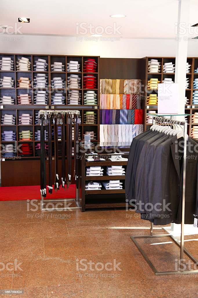 Clothing shop royalty-free stock photo