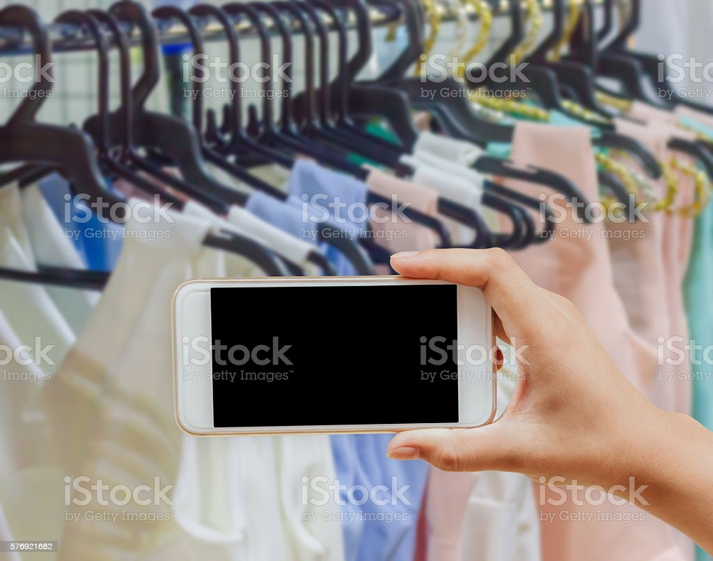 Clothing Store for sale stock photo