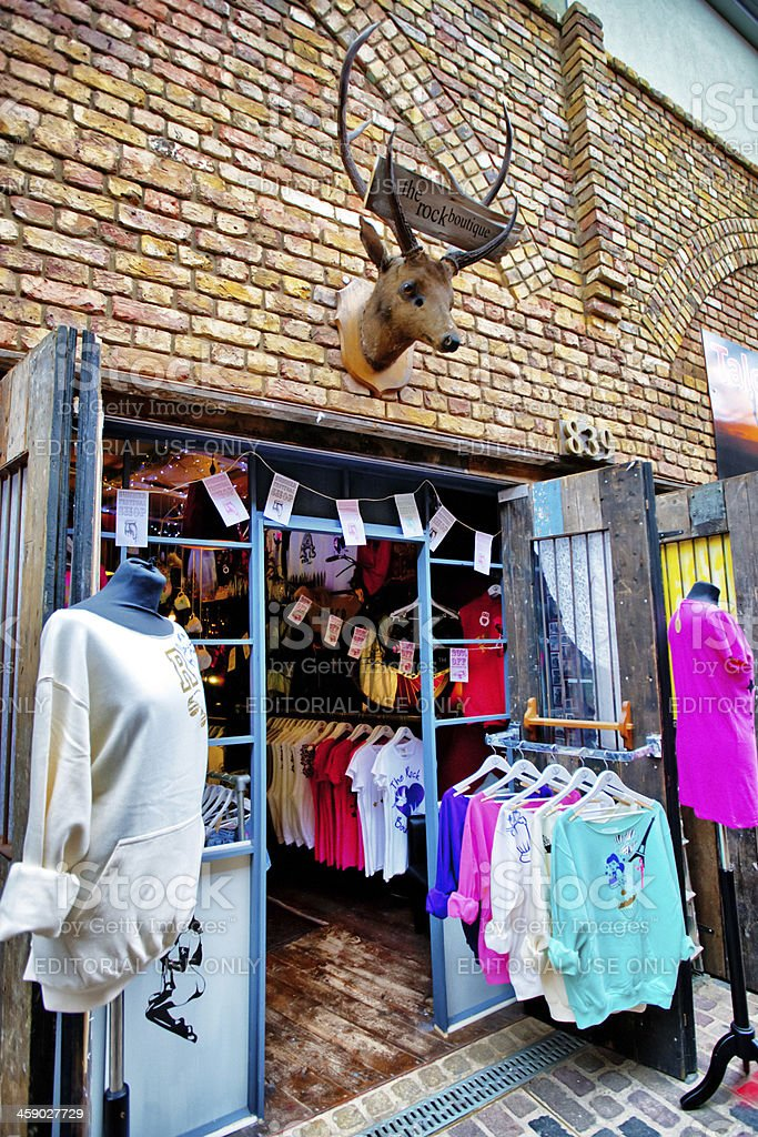 Clothing Store in Camden Town, London royalty-free stock photo