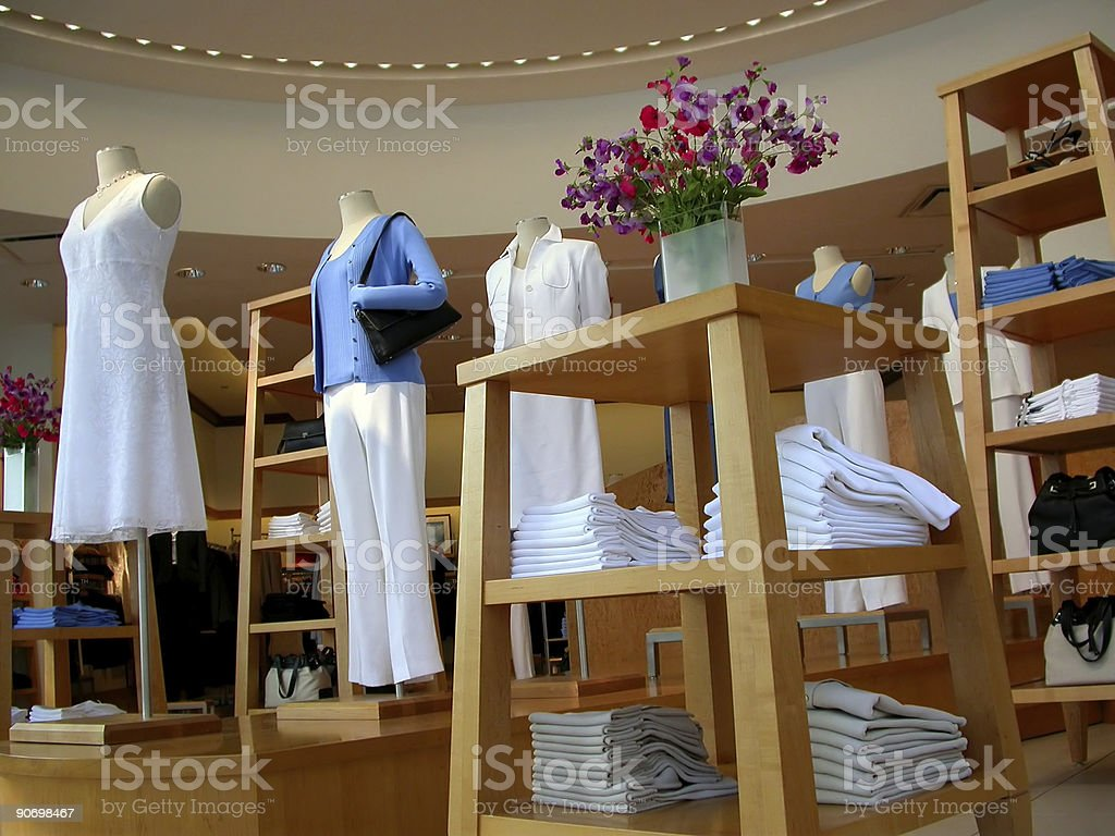 Clothing store royalty-free stock photo